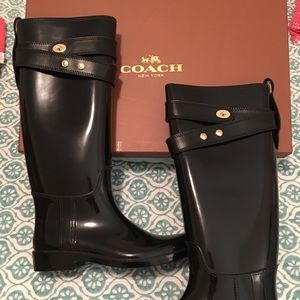 COACH Riding/Rain Boots. Fabulous!